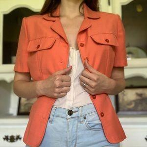VINTAGE short sleeved coral blazer